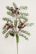 """XM12163RDFR Frosted Mixed Fern Berry Pine Cone Red Frost 23.5"""""""
