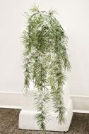"""XM11997GRSN Long Pine Weeping Spray With Snow Green 44"""""""