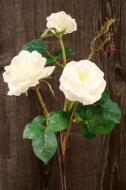 """FL11122WH Rose Spray 3 Flowers White 24""""   ***PREORDER FOR SPRING DELIVERY***"""