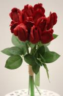 """PA10171RD Rose Bud Bundle x 12 (Nat Touch) Red 17.75""""   ***INSTOCK***"""